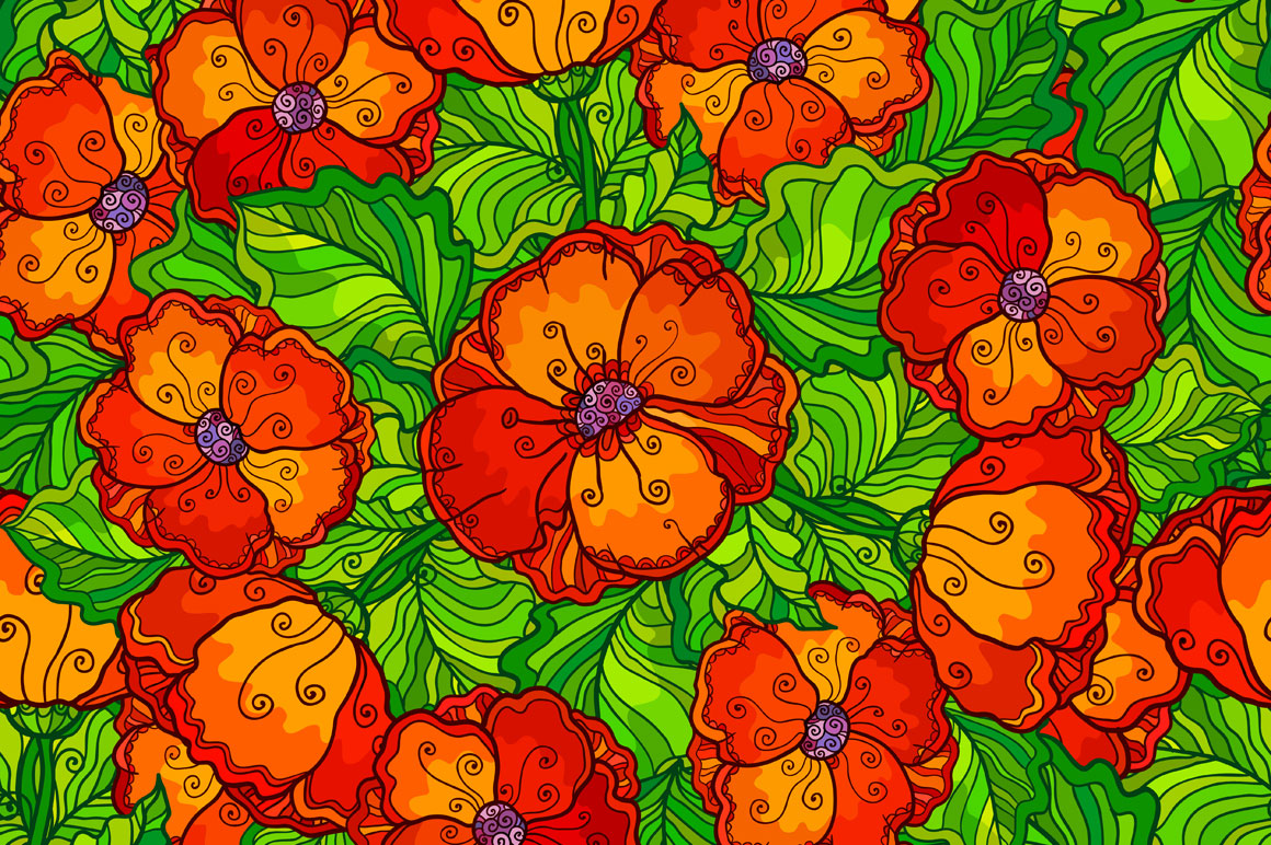 8 red poppy flowers backgrounds example image 4