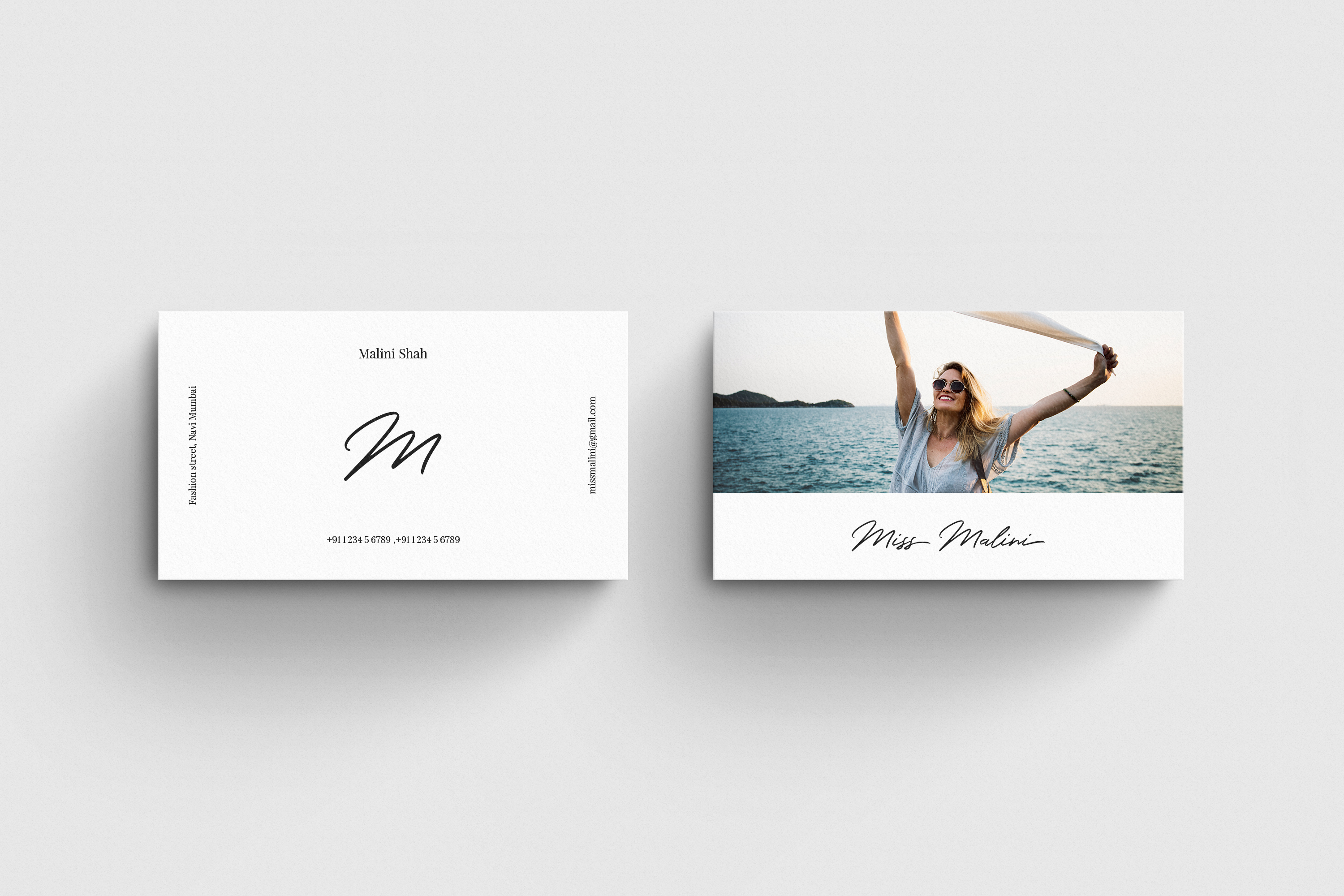 4 Business Card MockUps example image 6