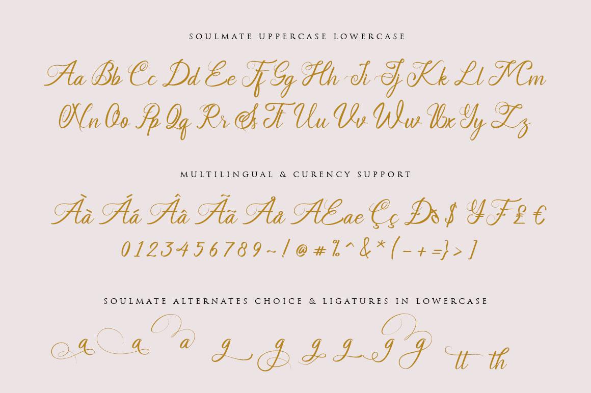 Soulmate//Luxury beauty calligraphy example image 3