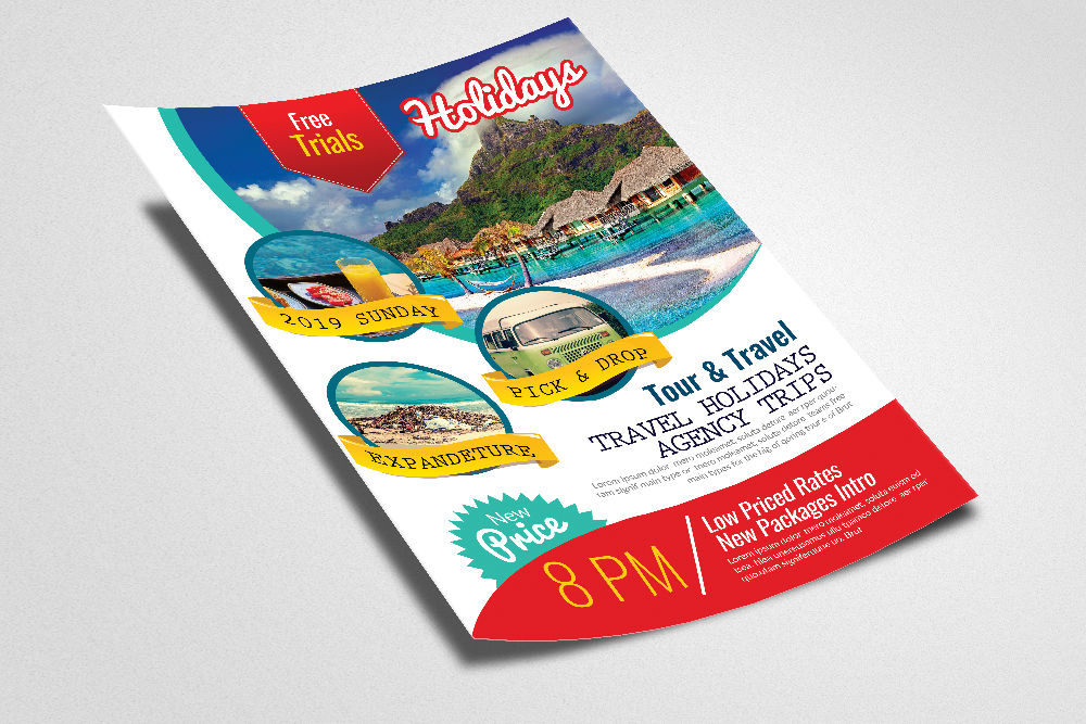 Holiday Tour/Travel Flyer Template example image 2
