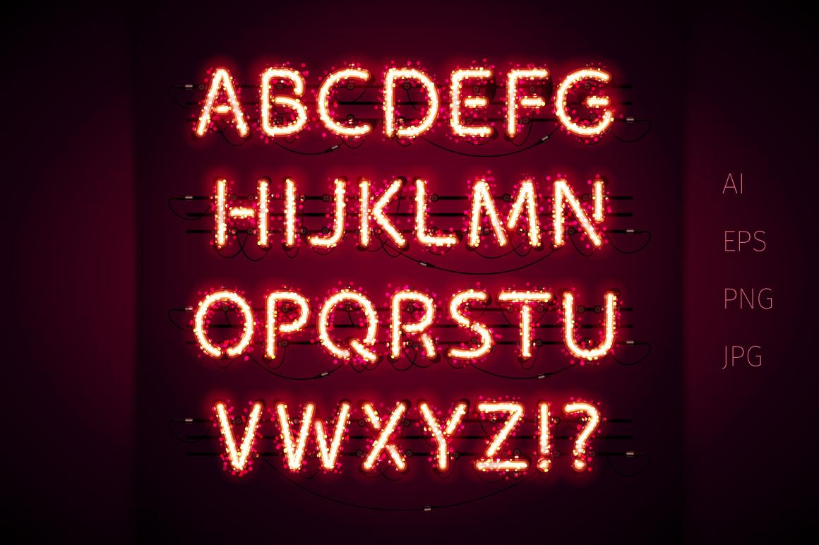 Glowing Magic Neon Type example image 3