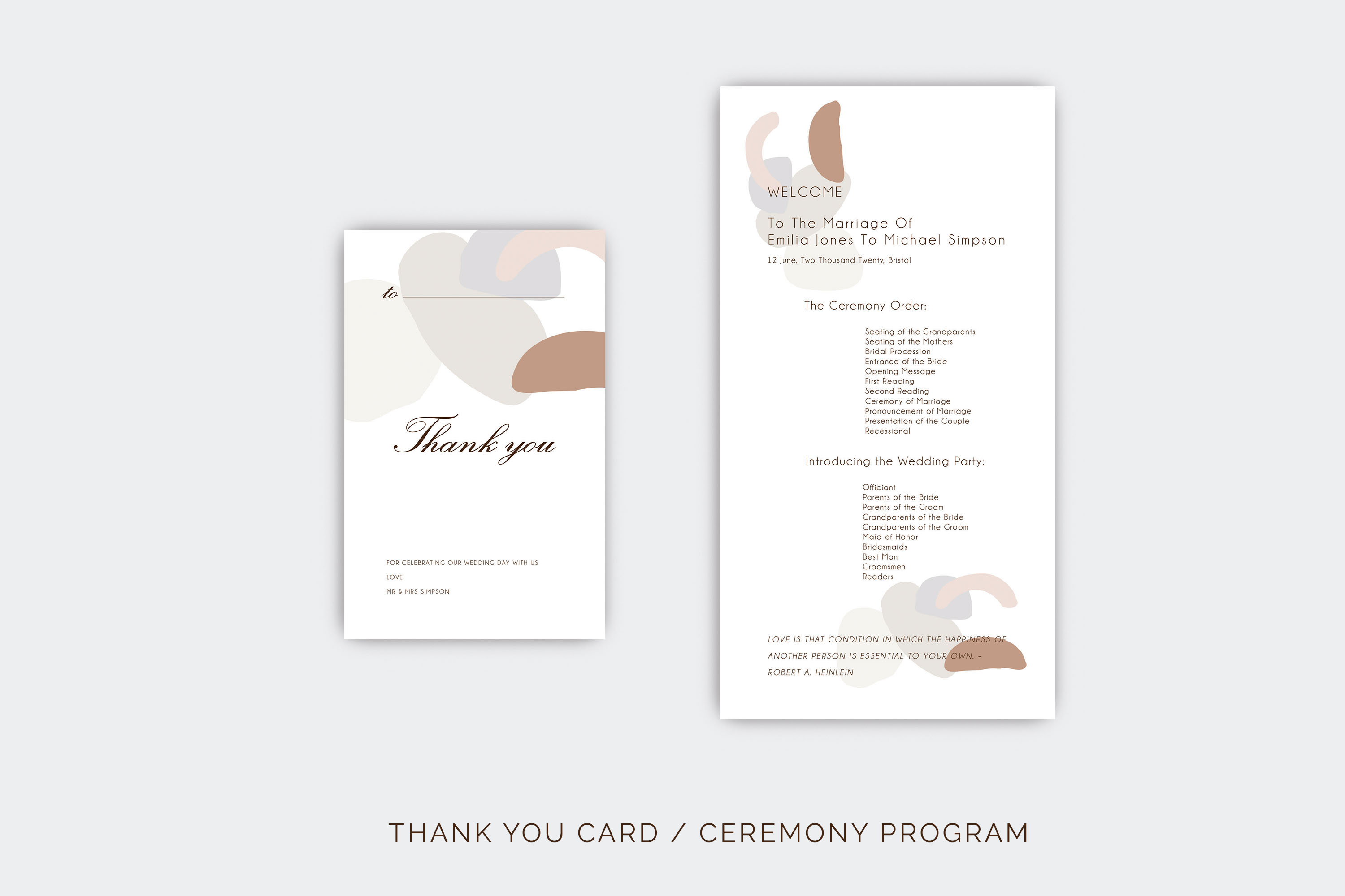 Abstract style Wedding Invitation Suite example image 10