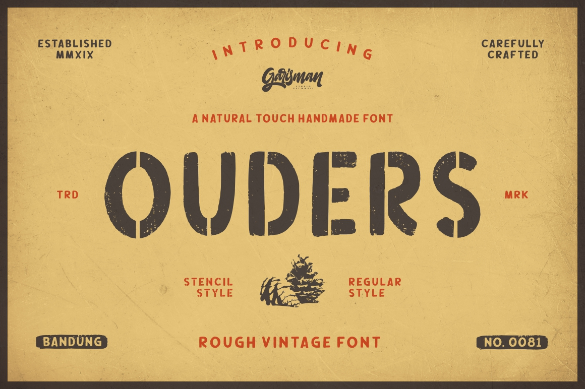 Ouders - Stencil & Regular Font example image 1