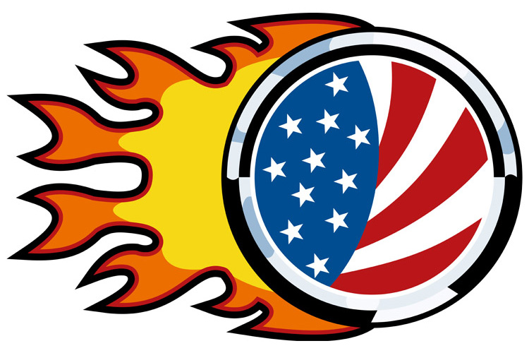 american flag on fire example image 1
