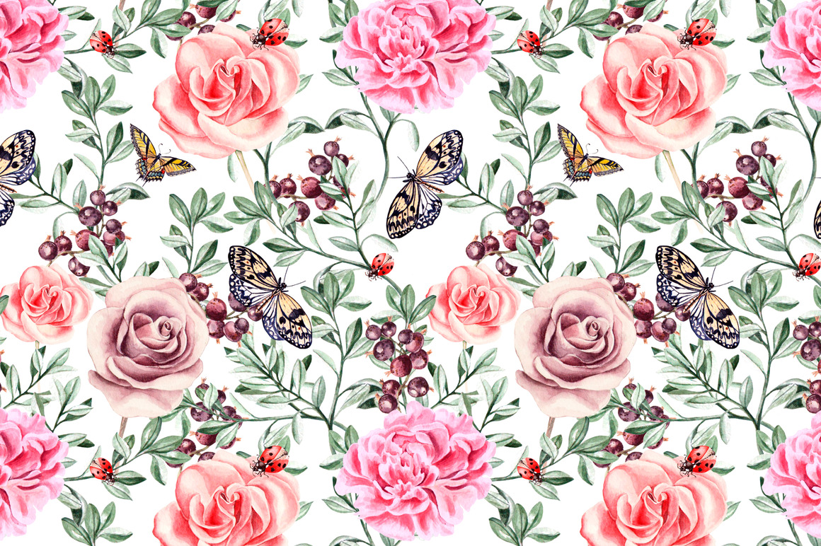 Hand Drawn Watercolor PATTERNS example image 3