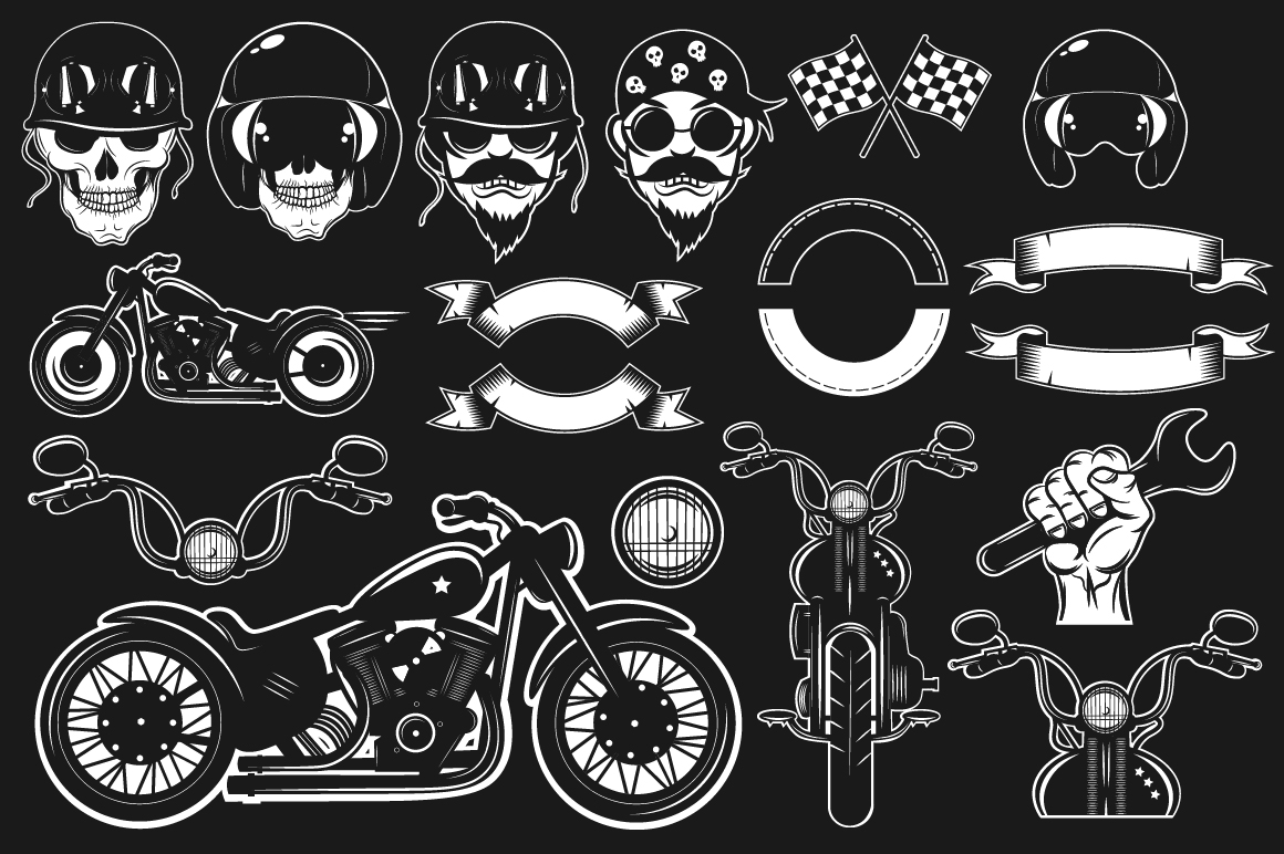 Bikers Logo Bundle example image 2