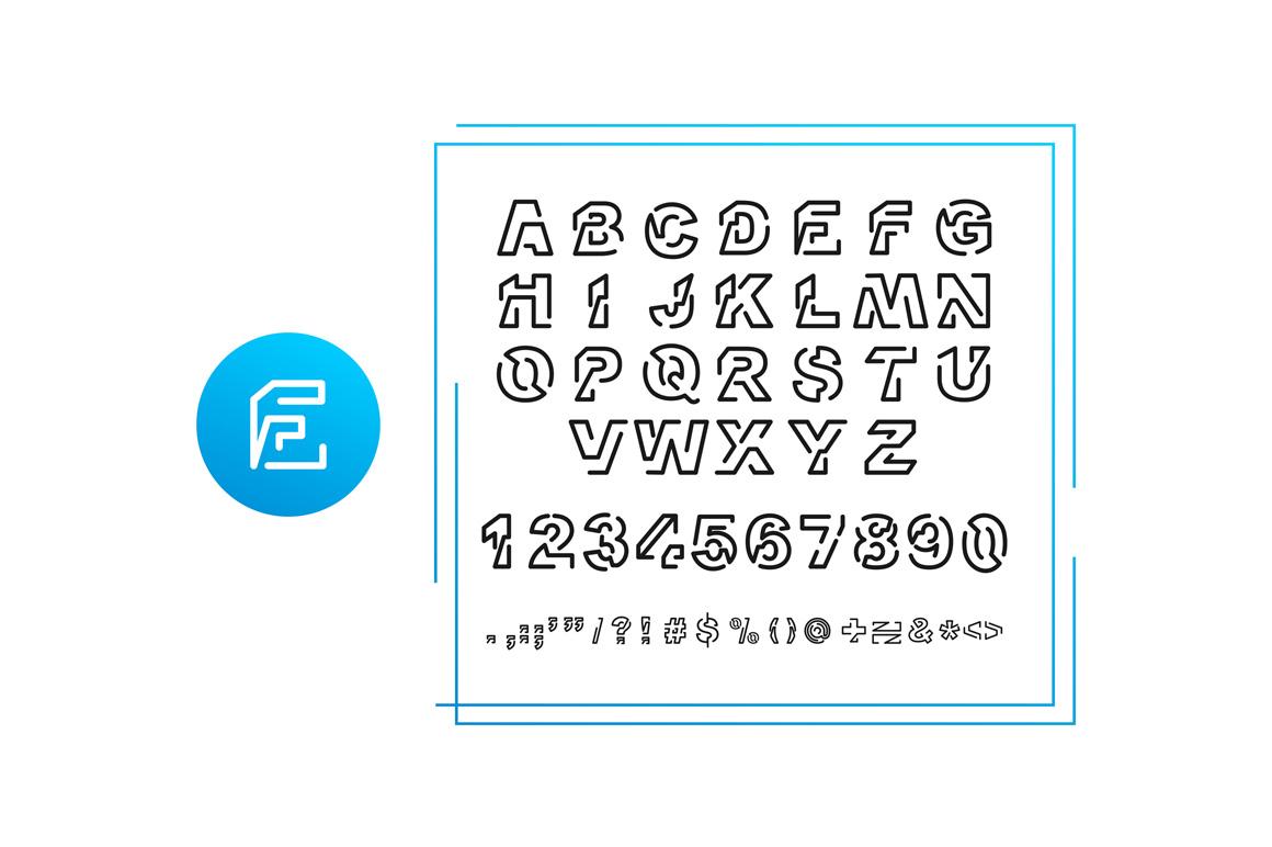 EROBOT Typeface example image 6