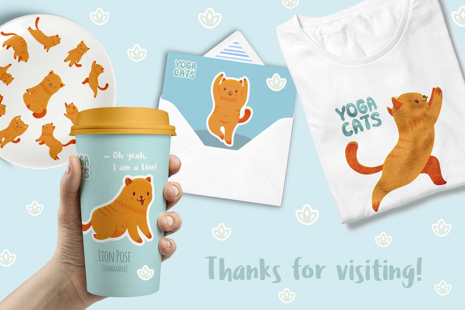 Yoga Cats Clipart Collection example image 9