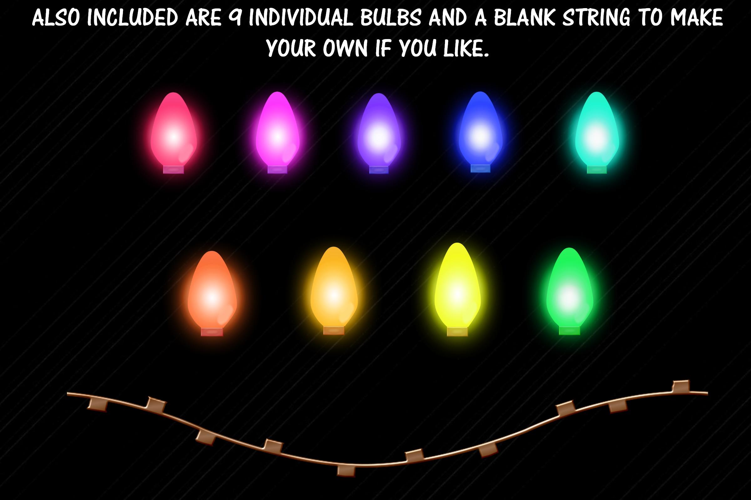 Christmas String Lights Clip Art & Individual Lights example image 2