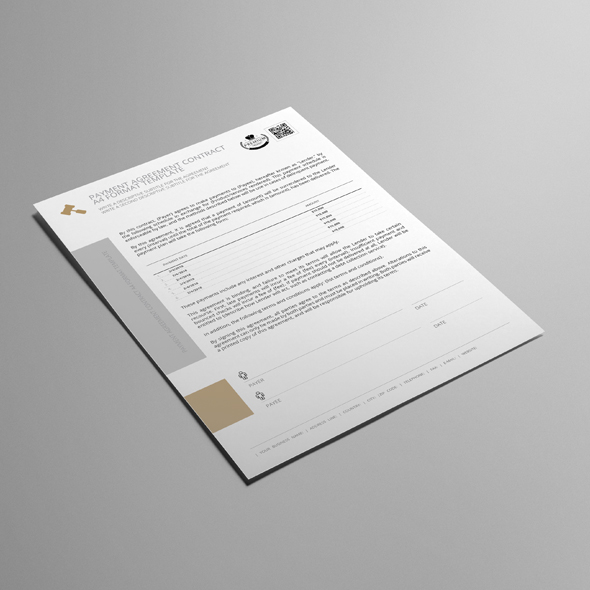 Payment Agreement Contract A4 Format Template example image 4