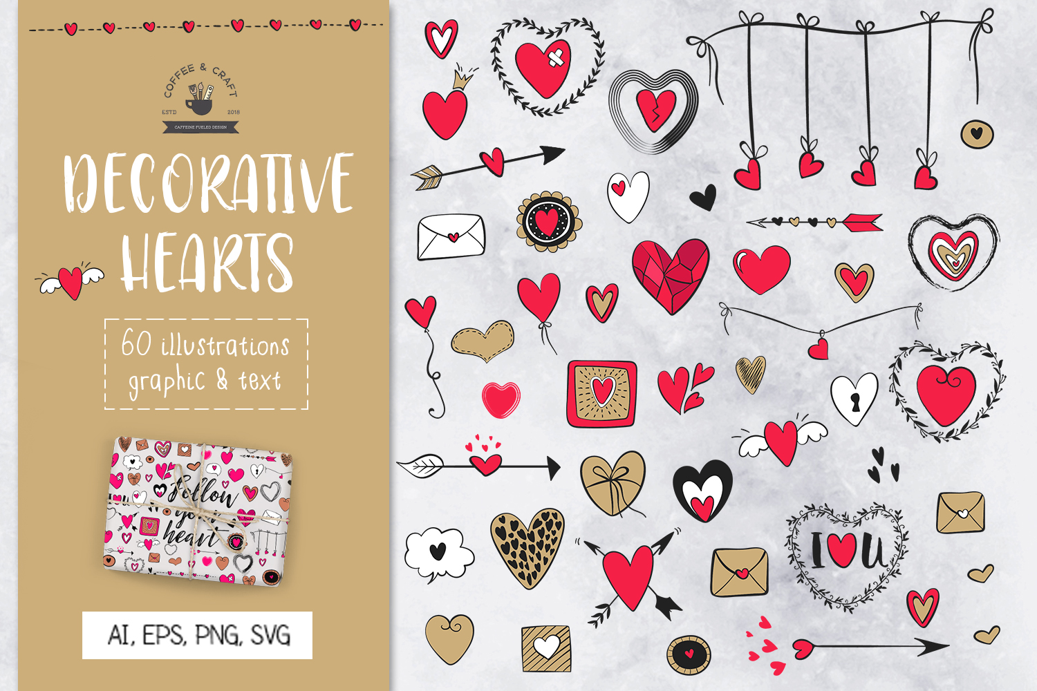 Decorative Hearts example image 1