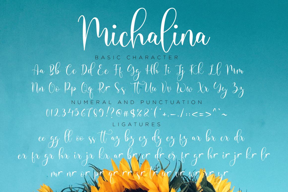 Michalina Script example image 11