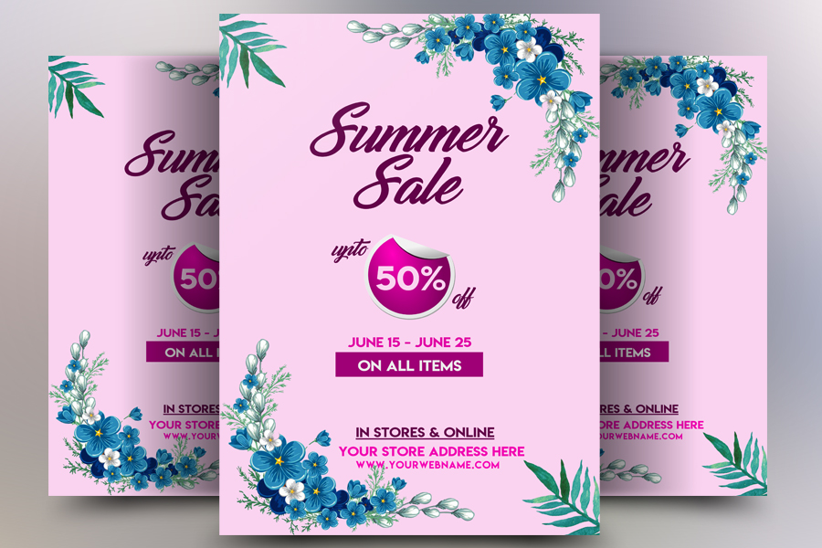 Summer Sale Offer Flyer Temp example image 1