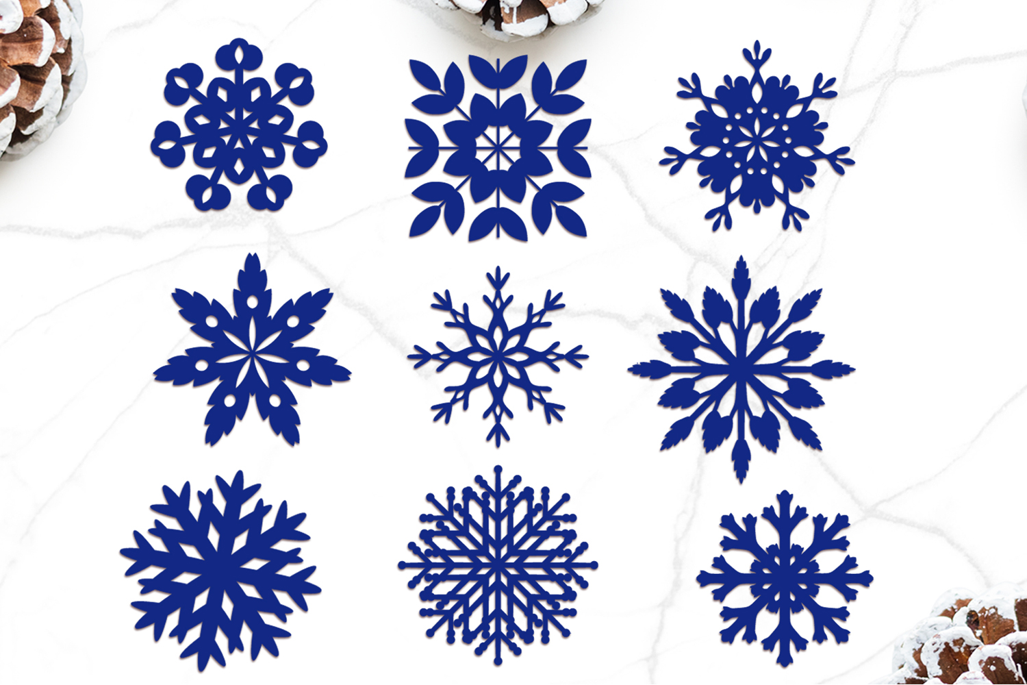 Snowflake Svg, Christmas Decor, Winter Clipart Svg example image 2