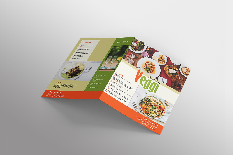 Vegan Menu Bifold Brochure A3 - AI/PSD Templates example image 7