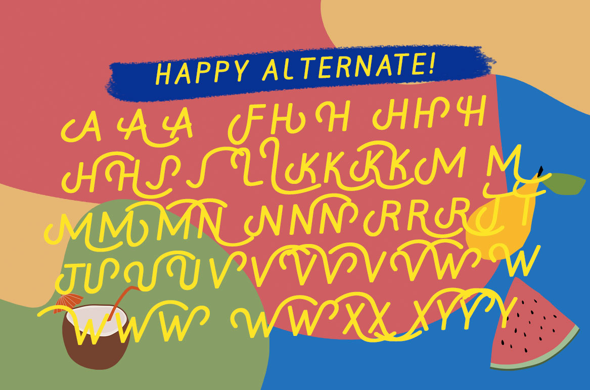 MILLATYNA || Happy Playfull Font example image 16
