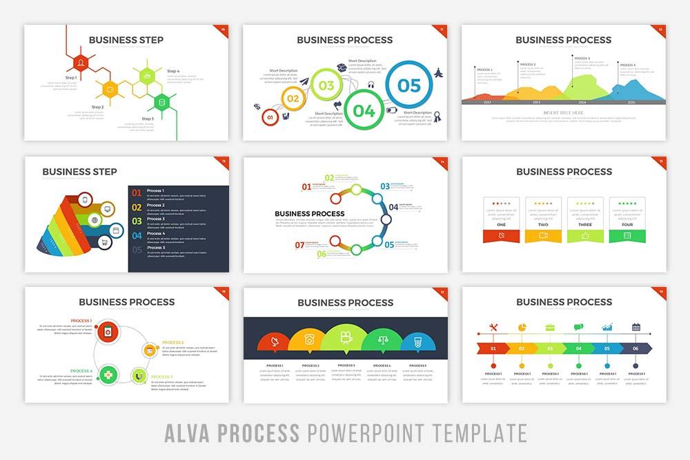 Alva Process Powerpoint Template example image 3