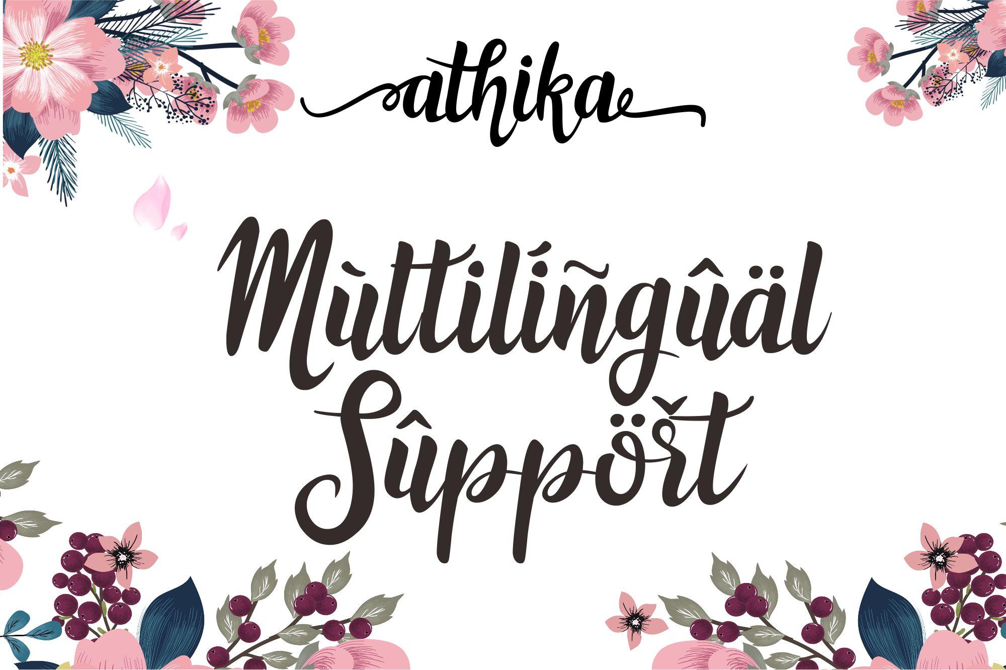 Athika Lovely Font example image 8