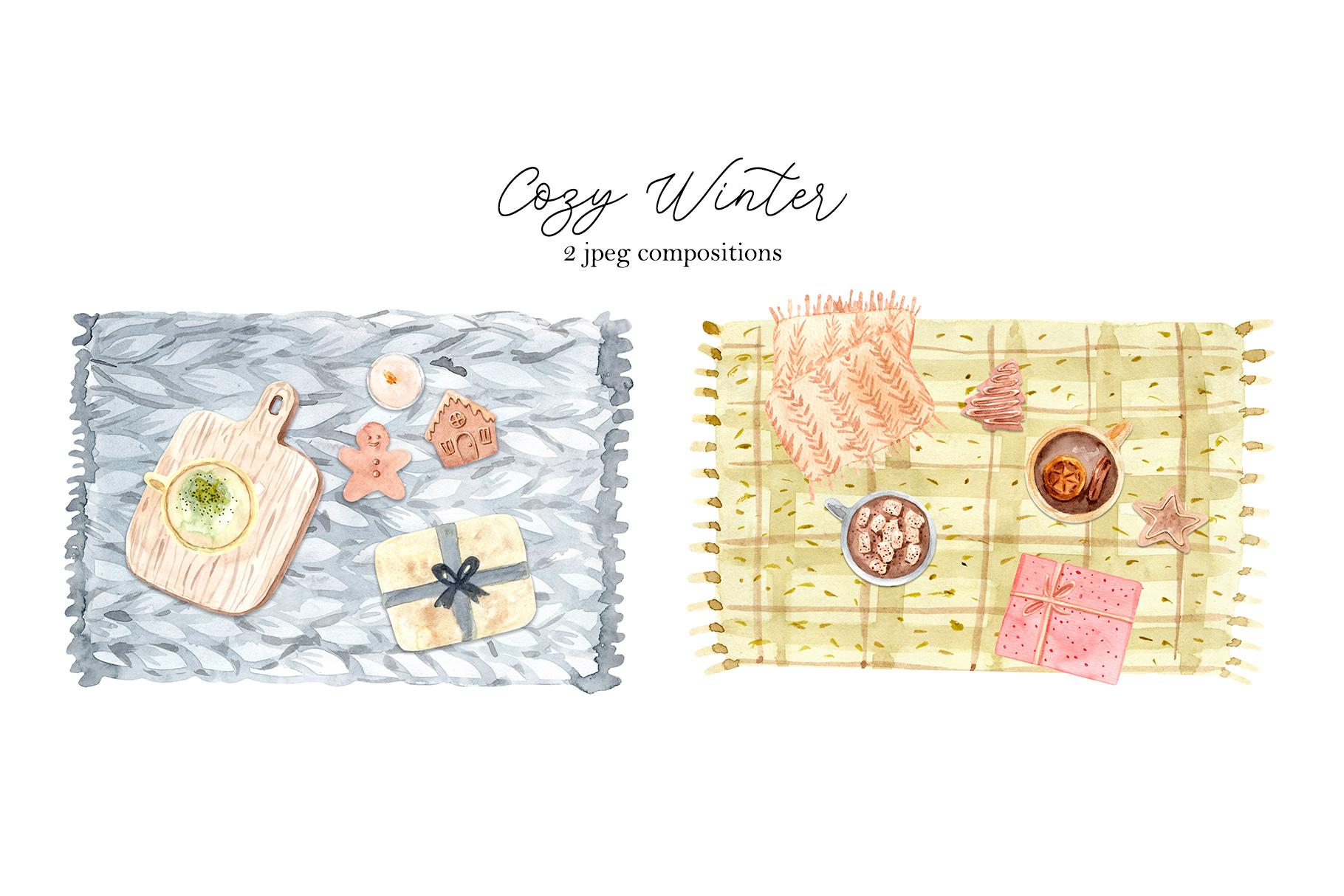 Watercolor Cozy Winter Collection example image 5