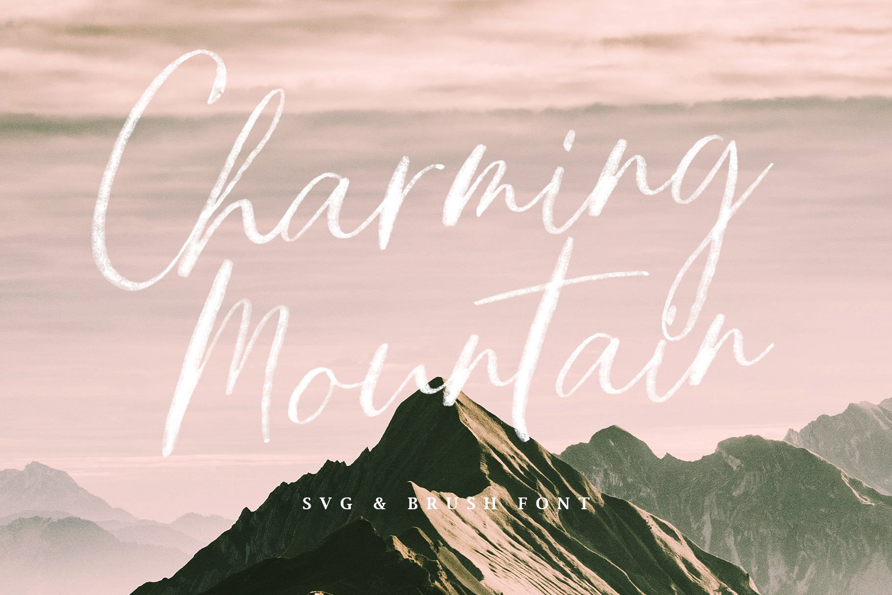 Charming Mountain - SVG example image 2