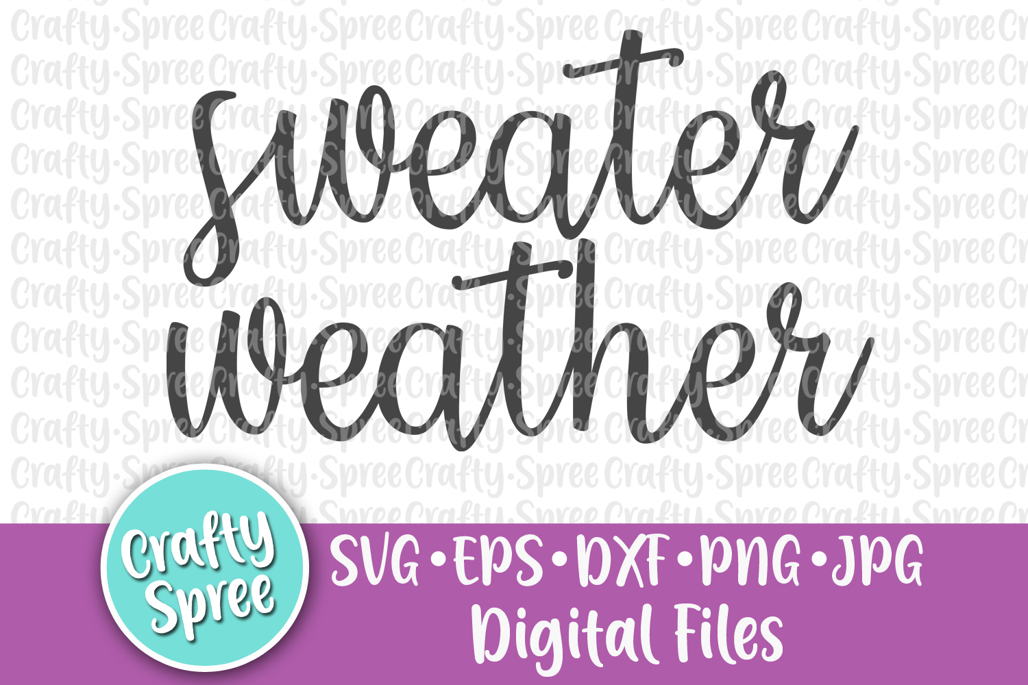 Sweater Weather SVG PNG DXF Cut File Sublimation example image 2