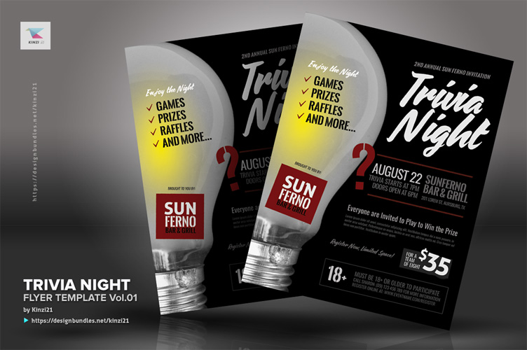 Trivia Night Flyer Template vol.01 example image 2