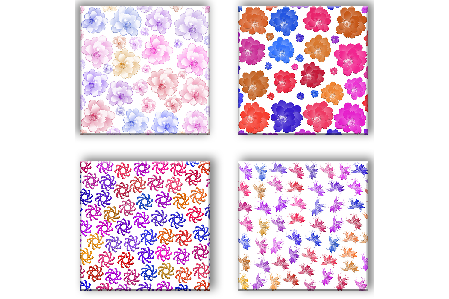 Flowers Patterned, Floral Pattern, Flowers Background example image 4