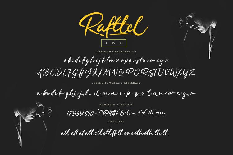 Rafttel Script Font example image 12