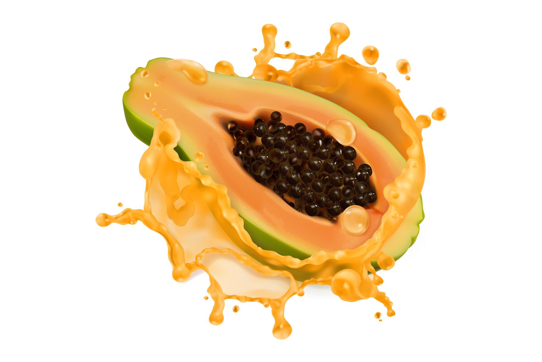 Orange juice, kiwi, banana, tomato juice, watermelon, papaya example image 3