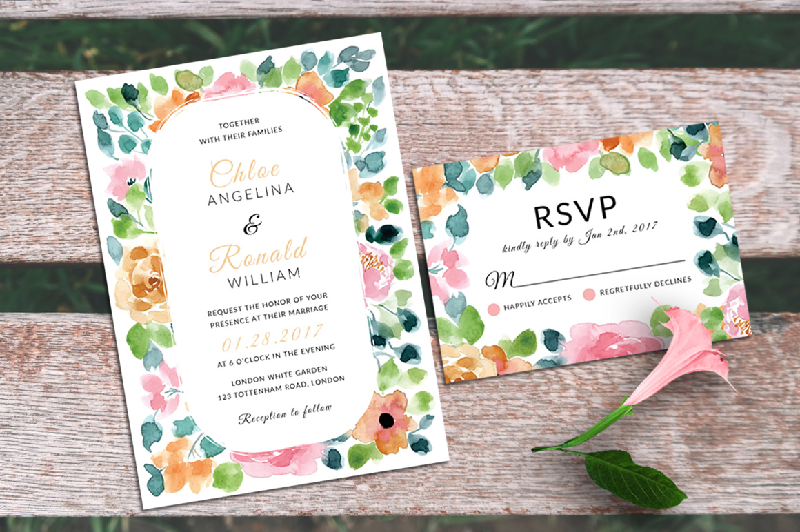 Gardenia - Wedding Invitation & RSVP example image 2