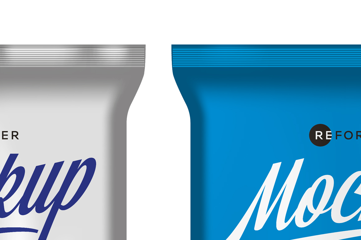 Three Matte Snack Bags Mockup example image 3