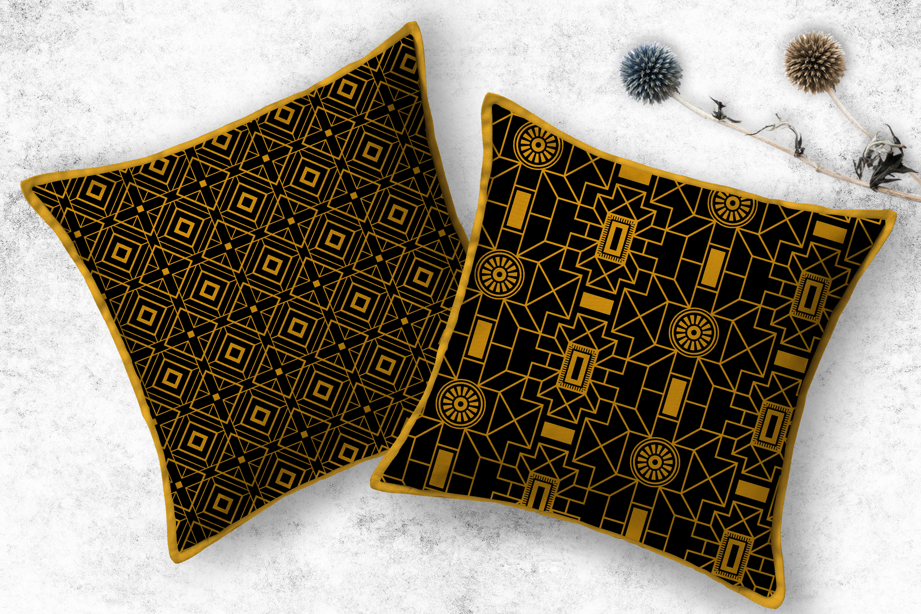 Geometric Art Deco Patterns - 20 Seamless Vector Patterns example image 6