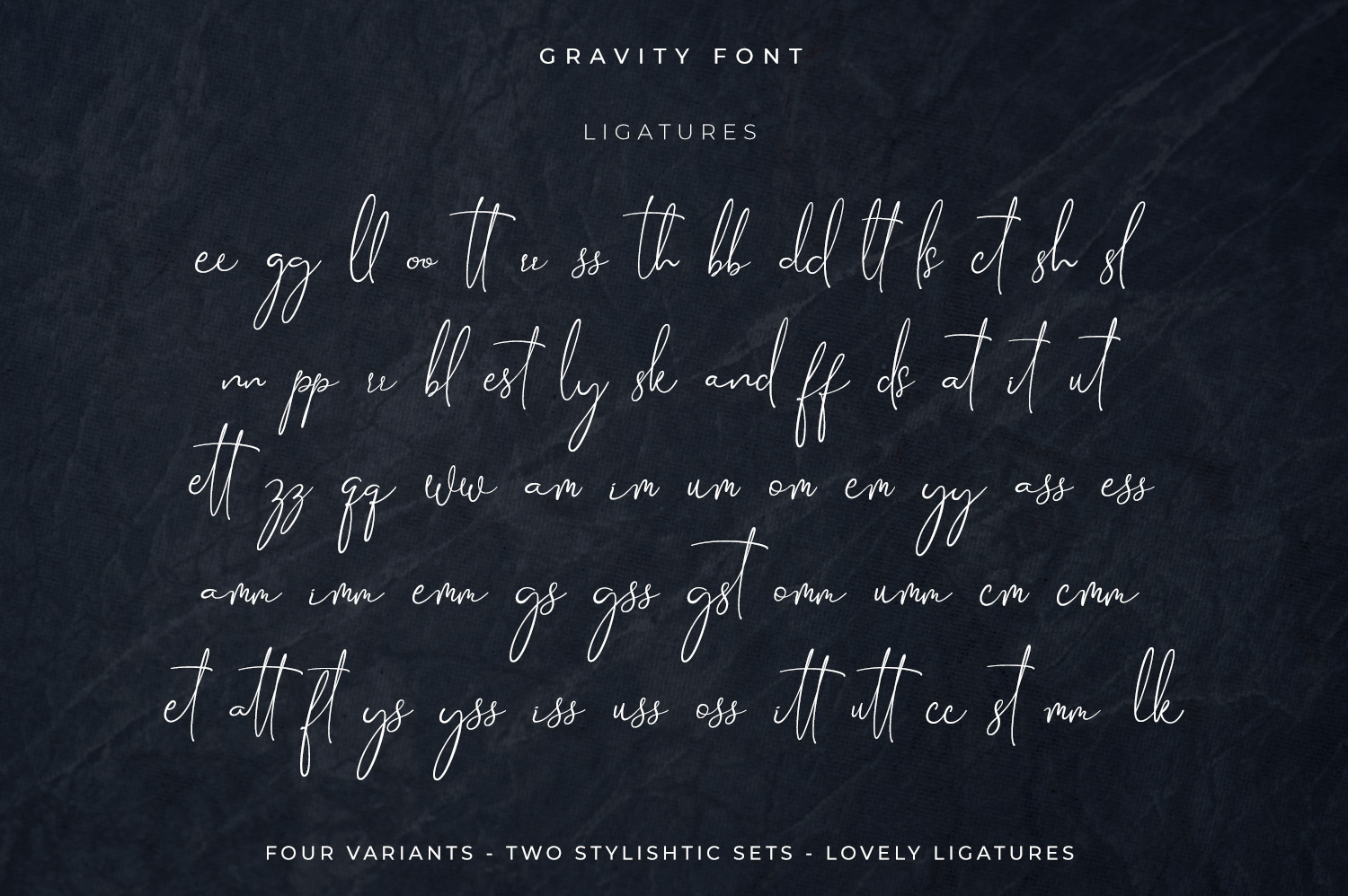 Gravity-Handwritten & Signature example image 15