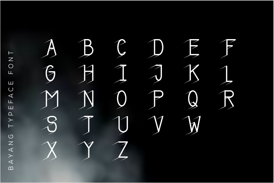 Bayangan font example image 4