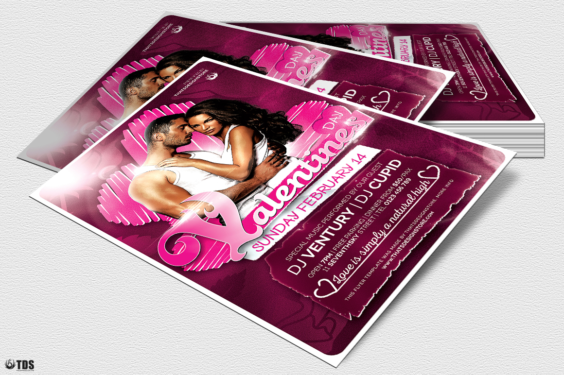 Valentines Day Flyer Template V7 example image 4