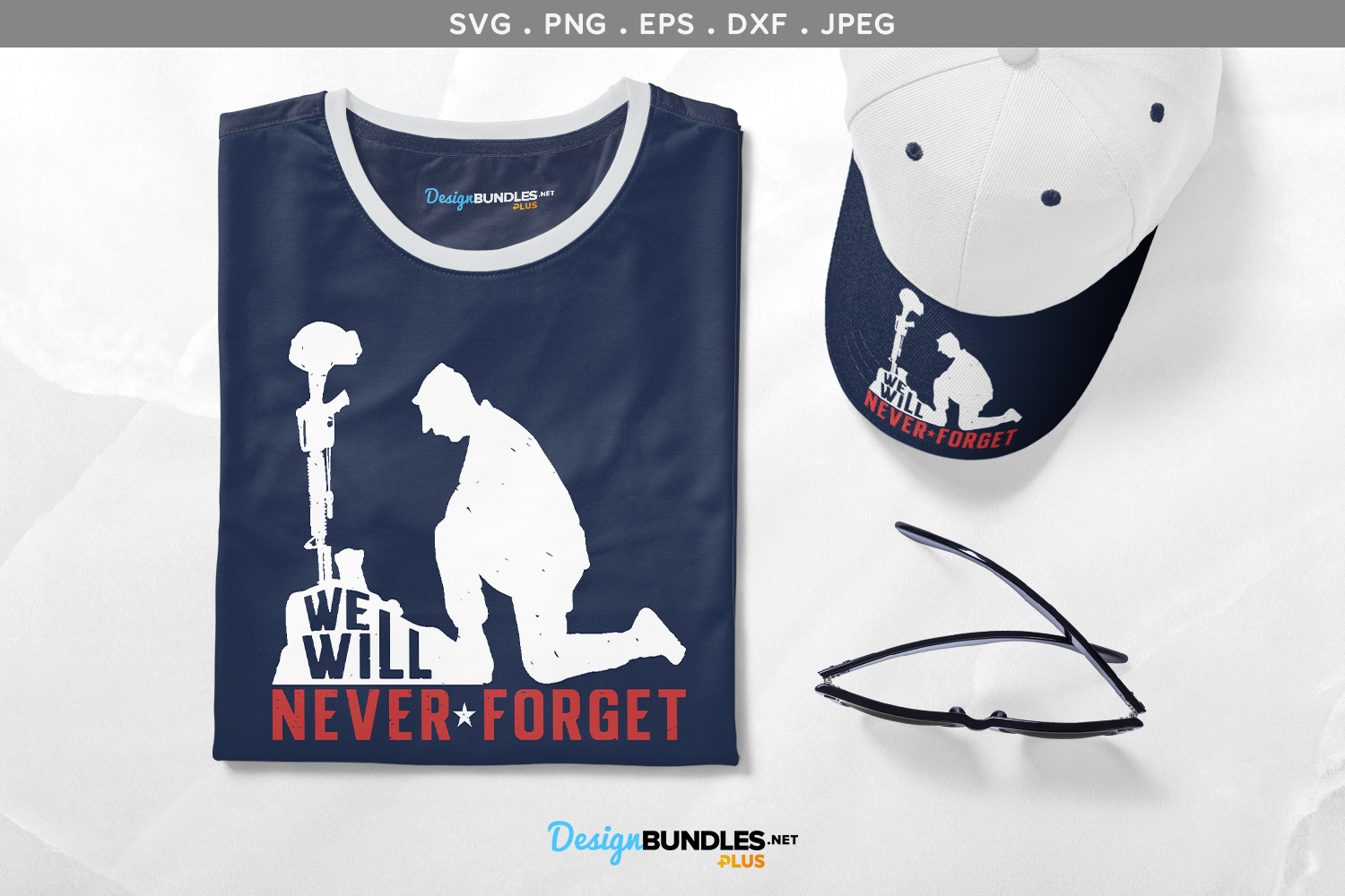 We Will Never Forget - svg, printable example image 1