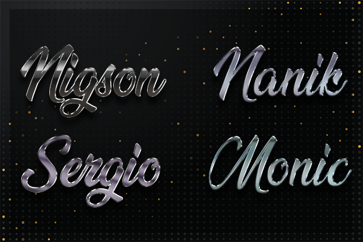 12 Silver Chrome Text Effect Styles example image 4