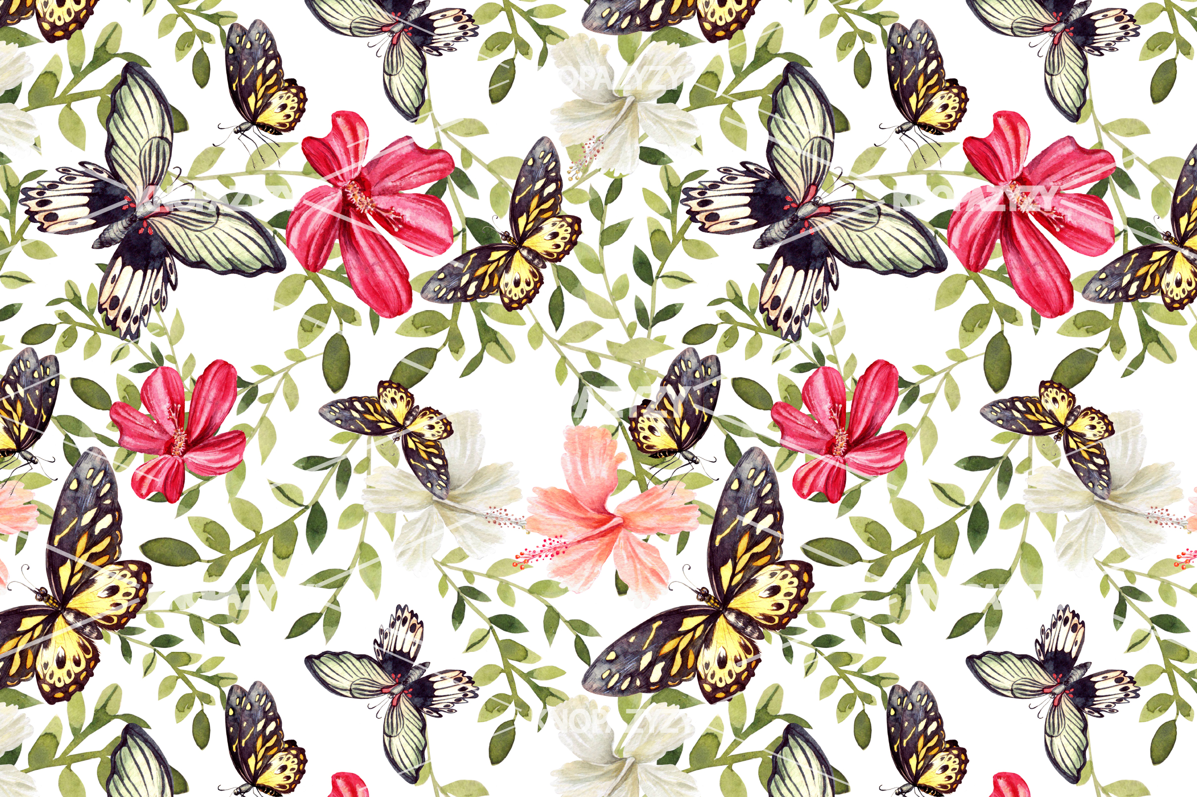 14 Hand drawn watercolor patterns example image 9