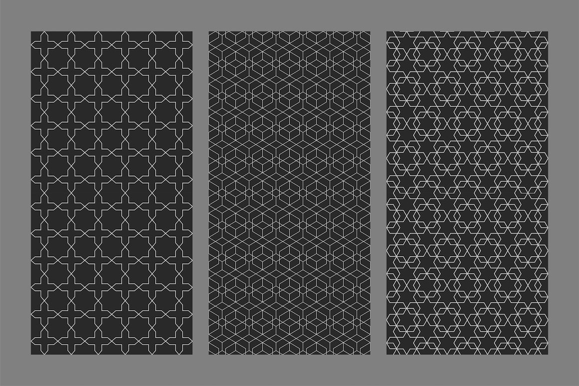 Vector seamless ornamental patterns example image 5