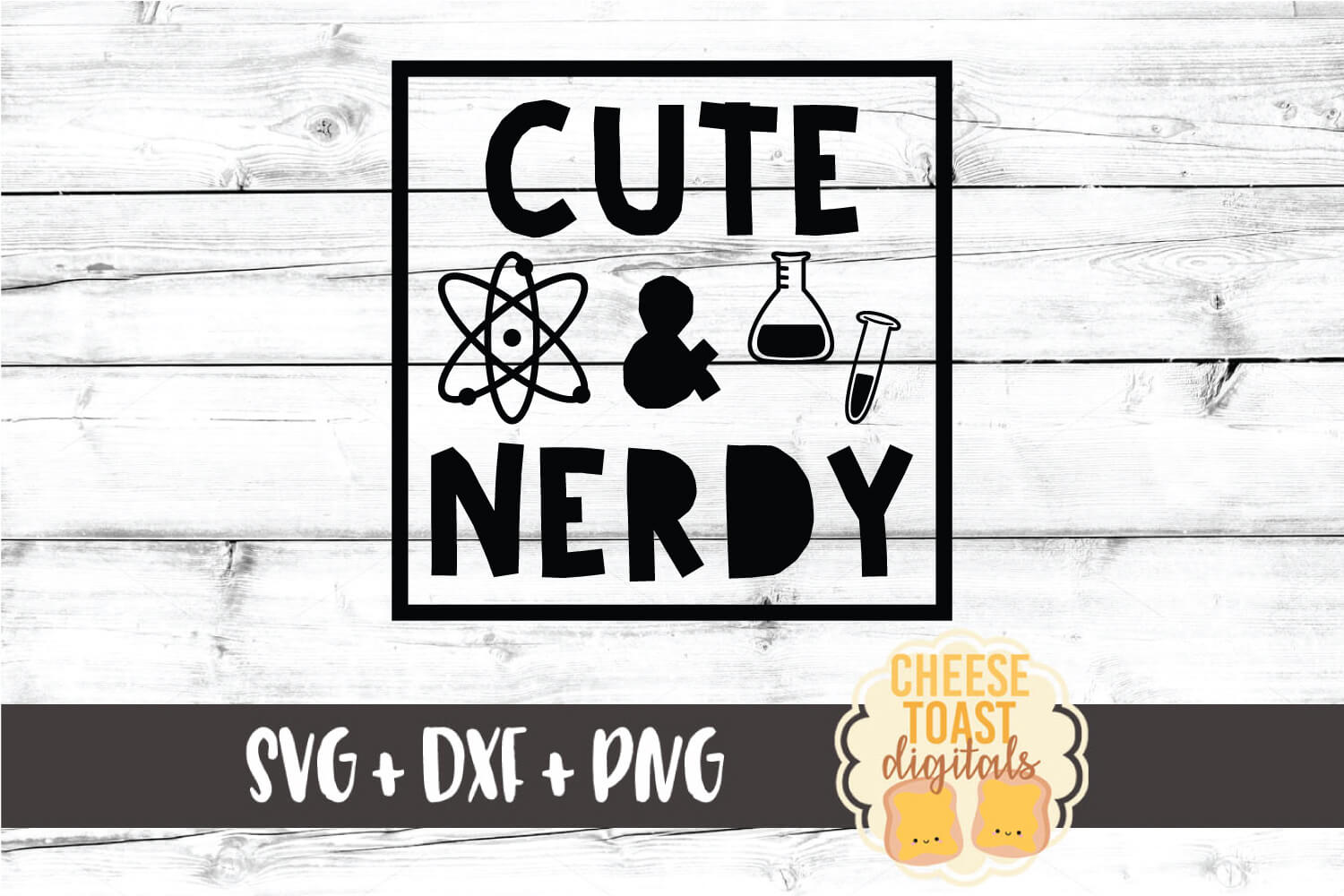Cute and Nerdy - Kid Science Design SVG PNG DXF Cut Files example image 2