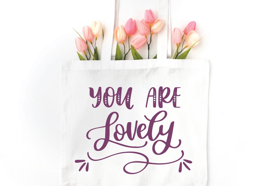 Lovebug Hand Lettered Font Trio, Valentine's Heart Font example image 5