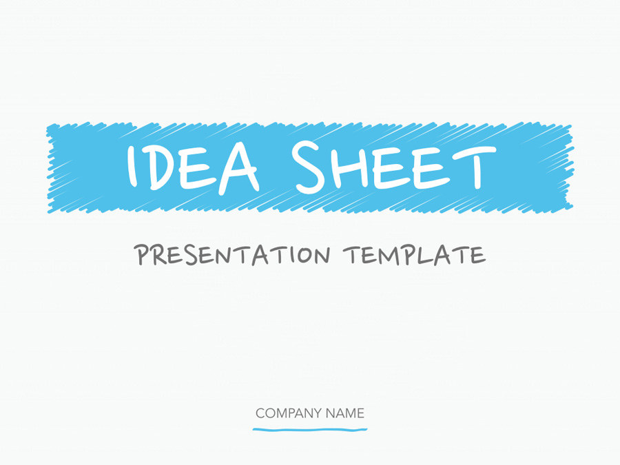 Idea Sheet PowerPoint Template example image 2