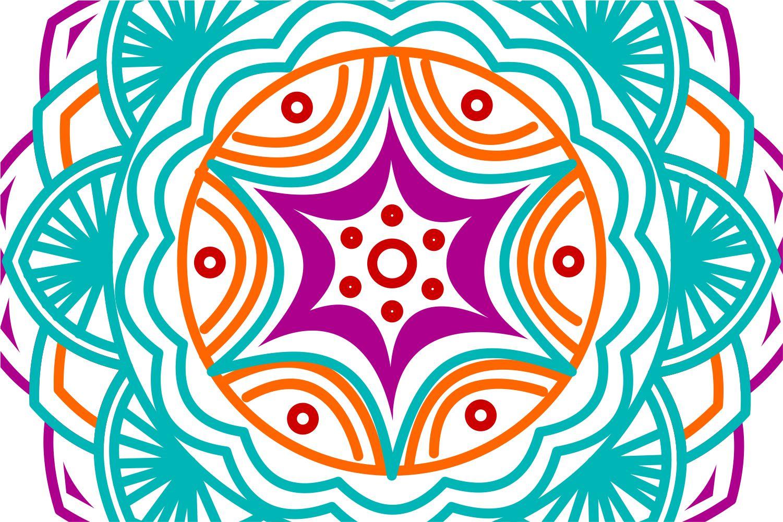 Colorful Mandala Abstract Geometric example image 5