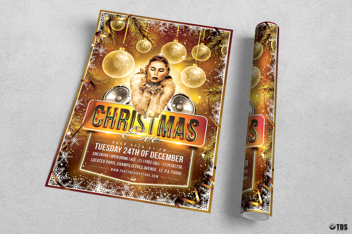 Christmas Eve Flyer Template V4 example image 3