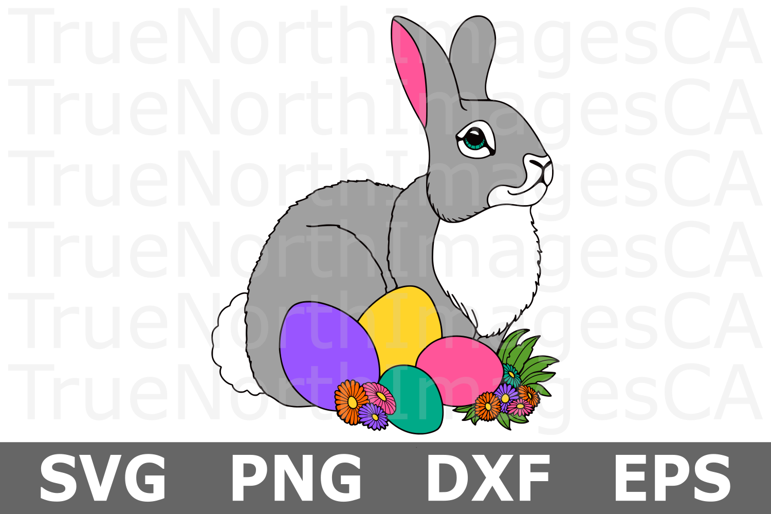 Easter Bunny - An Easter SVG Cut File example image 1