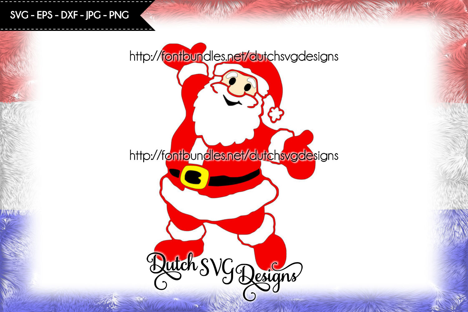 Santa Claus cutting file and/or printable, in Jpg Png SVG EPS DXF, for Cricut & Silhouette, christmas svg, santa svg, santa cut file example image 1