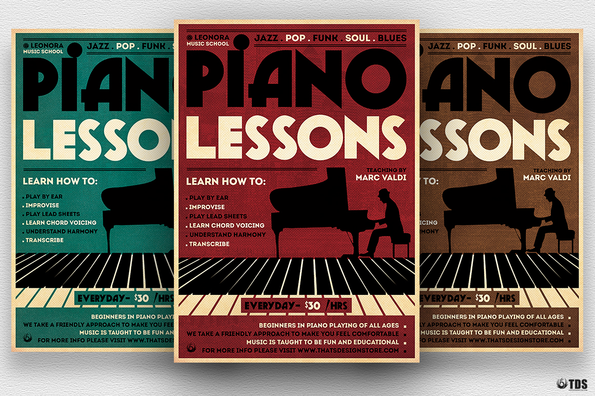 Special Pianist Flyer Bundle example image 5