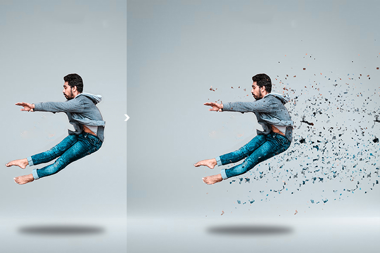 Broken Dispersion Photoshop Action example image 2