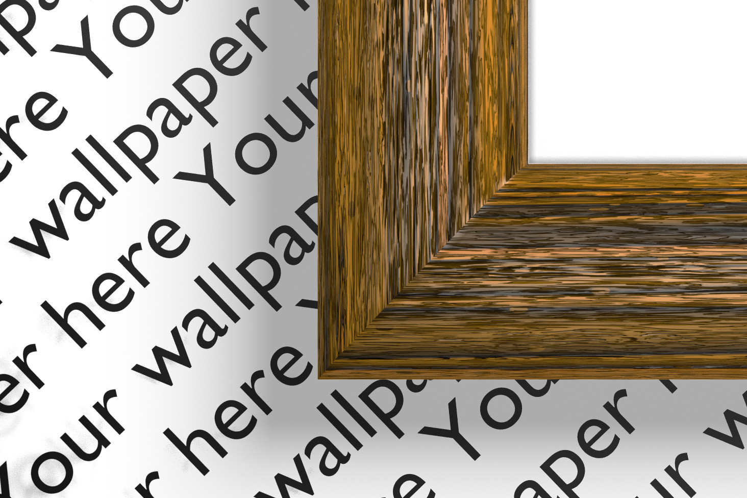 A4 acacia wood digital frame with alpha channel and shadows example image 2