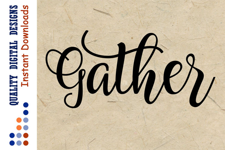 Gather SVG Thanksgiving svg example image 1